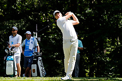 September 2, 2018 - Norton, MA, U.S. - NORTON, MA - SEPTEMBER 02: Alex Noren of Sweden drives from the 9th tee during the Third Round of the Dell Technologies Championship on September 2, 2018, at TPC Boston in Norton, Massachusetts. (Photo by Fred Kfoury III/Icon Sportswire) (Credit Image: © Fred Kfoury Iii/Icon SMI via ZUMA Press)