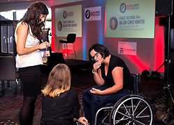 Great Britain's Sitting Volleyball captain Martine Wright MBE speaks to guests at the Bristol Sport Big Breakfast - Mandatory by-line: Robbie Stephenson/JMP - 26/08/2016 - PR - Ashton Gate - Bristol, England - Bristol Sport Big Breakfast - Martine Wright MBE
