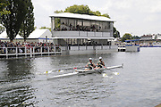 Henley, Great Britain.  Henley Royal Regatta. M2X, Australian Institute of Sport, AIS, AUS, M2X,j. CHAPMAN[Bow], J BIDWELL[stroke], pass the Grandstand, in the Semi-Final, of the Double Sculls Challenge Cup.River Thames Henley Reach.  Royal Regatta. River Thames Henley Reach.  Saturday  02/07/2011  [Mandatory Credit  Intersport Images] . HRR