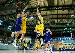 Blaz Mahkovic of Helios Suns during basketball match between KK Hopsi Polzela and KK Helios Suns in semifinal of Spar Cup 2018/19, on February 16, 2019 in Arena Bonifika, Koper / Capodistria, Slovenia. Photo by Vid Ponikvar / Sportida