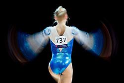 August 2, 2018 - Glasgow, UNITED KINGDOM - 180802 Siiri Saukkonen of Finland competes at the beam in the women's qualification of Artistic Gymnastics during the European Championships on August 2, 2018 in Glasgow..Photo: Jon Olav Nesvold / BILDBYRÃ…N / kod JE / 160280 (Credit Image: © Jon Olav Nesvold/Bildbyran via ZUMA Press)