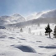 Strong winds are a mainstay in Mammoth Lakes and make visibility difficult with blowing snow during the winter.