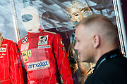 Niki Lauda's racing suit from Rush. A collection of contemporary movie props, memorabilia and costumes to be auctioned on 16 October. It will include 375 items collected over 10 years and potentially worth more than £1 million. Highlights include:  Back to the Future: Part II -  Marty McFly's (Michael J. Fox) Mattel Hoverboard (estimated at £14,000 - £18,000); Willy Wonka and the Chocolate Factory - Wonka's (Gene Wilder) Golden Ticket (£15,000 - £20,000); Batman Forever – Remote control Batmobile model miniature (£20,000 - £30,000); Rush - 'Niki Lauda's (Daniel Brϋhl) Prop Ferrari 312T2 Formula One Car (£20,000 - £30,000); memorabiliaStar Wars: Return of the Jedi - Biker Scout helmet (£8,000-£10,000); and The Shining - Jack and Wendy's (Jack Nicholson & Shelly Duvall) Overlook Hotel Bed (£4,000-£6,000).