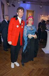ZANDRA RHODES and DUGGIE FIELDS at a party to celebrate the centenary of Montblanc held at Lindley Hall, Elverton Street, London SW1 on 9th March 2006.<br /><br />NON EXCLUSIVE - WORLD RIGHTS