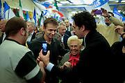 Assunta Almirante con alcuni militanti durante il congresso per la rinascita di Alleanza Nazionale<br /> Roma 9 novembre 2013 . Daniele Stefanini /  OneShot