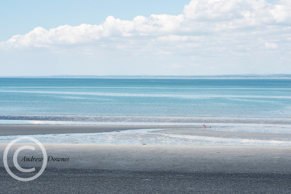 17/06/2014  All the beach in the world 1 child on  Tracht beach near Kinvara Co. Galway   . <br />   Photo:Andrew Downes