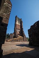 St Augustine Ruins in Goa was abandoned in 1835 as a result of the expulsion of the religious order from Goa. The main vault of the Church collapsed and the convent has been in ruins ever since. The valuable articles belonging to the monastery and church were lost or sold or dispersed over many churches in Goa. The bell from the tower was taken to the Church of Our lady of Immaculate Conception in Panjim.  Because of its partial demolition, weather and natural decay, most of the complex has fallen apart.  The five storey bell tower is being conserved to keep it from collapsing as well.