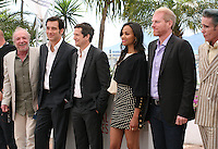 James Caan, Clive Owen, Guillaume Canet, Zoé Saldana, Noah Emmerich, Mark Mahoney, at the Blood Ties film photocall at the Cannes Film Festival Monday 20th May 2013