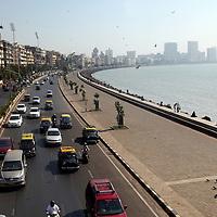 Asia, India, Mumbai. Marine Drive of Mumbai