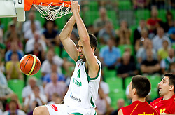 Mirza Begic of Slovenia during friendly basketball match between National teams of Slovenia and Montenegro of Adecco Ex-Yu Cup 2011 as part of exhibition games before European Championship Lithuania 2011, on August 7, 2011, in Arena Stozice, Ljubljana, Slovenia. Slovenia defeated Crna Gora 86-79. (Photo by Vid Ponikvar / Sportida)
