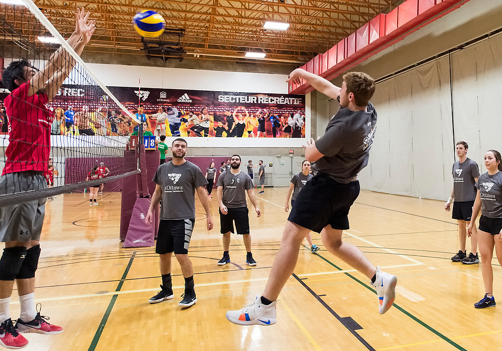 uOttawa Intramural's Volleyball<br /> <br /> March 17, 2018<br /> <br /> Photo: Steve Kingsman for uOttawa