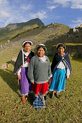 Ecuadorian Women At Machu Picchu