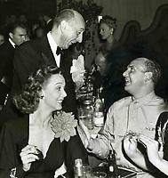 Aug. 29, 1942ur Murray and Carole Landis greet Jackie Coogan at the Hollywood Canteen's benefit at Ciro's