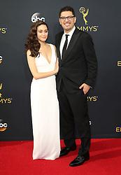 Sam Esmail, Emmy Rossum  bei der Verleihung der 68. Primetime Emmy Awards in Los Angeles / 180916<br /> <br /> *** 68th Primetime Emmy Awards in Los Angeles, California on September 18th, 2016***