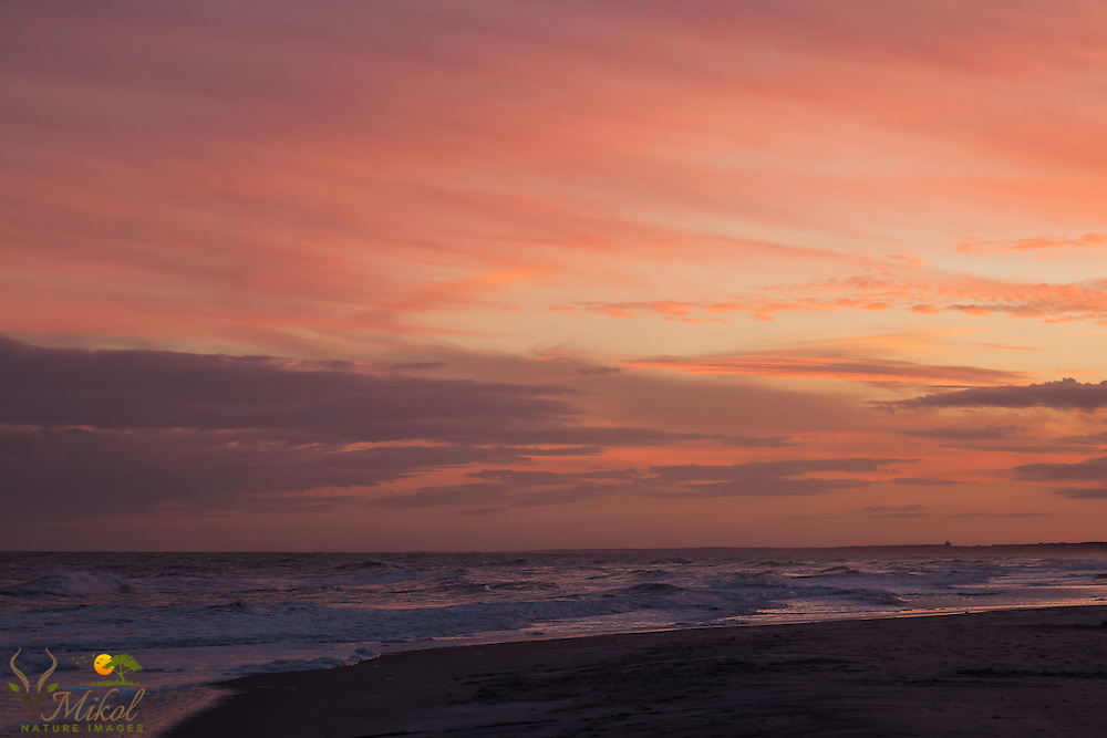 Crimson Sky over Atlantic at dusk