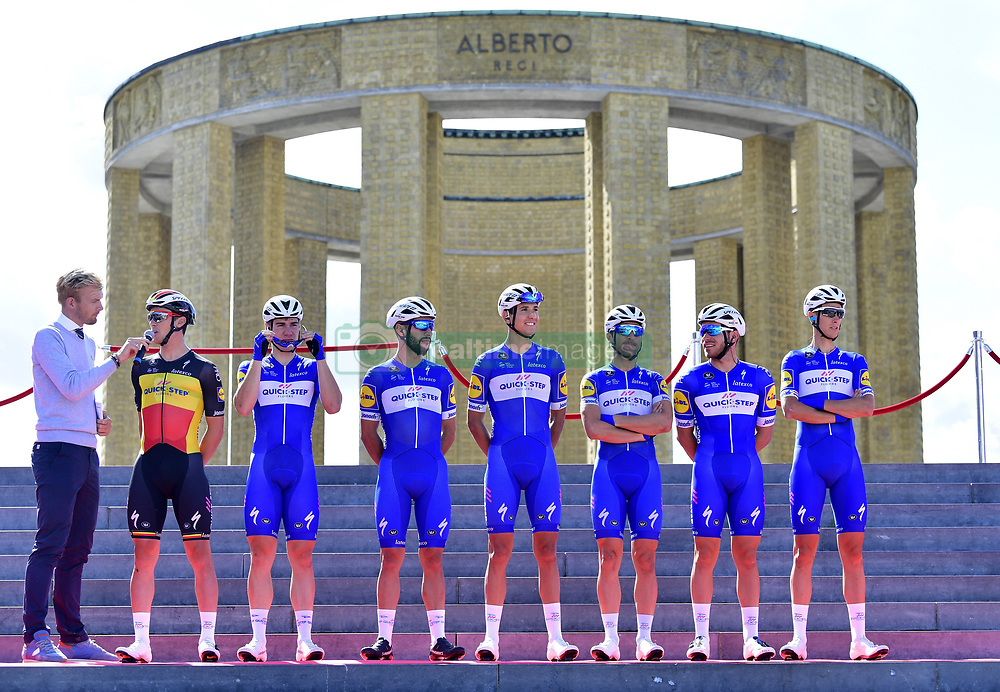 August 24, 2018 - Ieper, Belgique - IEPER, BELGIUM - AUGUST 24 :  Team Quick-Step Floors : LAMPAERT Yves (BEL)  of Quick - Step Floors, JAKOBSEN Fabio (NED)  of Quick - Step Floors, GAVIRIA RENDON Fernando (COL)  of Quick - Step Floors, MARTINELLI Davide (ITA)  of Quick - Step Floors, RICHEZE Maximiliano Ariel (ARG)  of Quick - Step Floors, SENECHAL Florian (FRA)  of Quick - Step Floors, TERPSTRA Niki (NED)  of Quick - Step Floors during the Flanders Classics 1st Great War Remembrance cycling race with start in Nieuwpoort and finish in Ieper on August 24, 2018 in Ieper, Belgium, 24/08/2018 (Credit Image: © Panoramic via ZUMA Press)