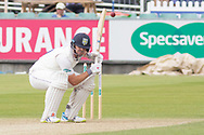 Alex Lees ducks a bouncer during the Specsavers County Champ Div 2 match between Durham County Cricket Club and Leicestershire County Cricket Club at the Emirates Durham ICG Ground, Chester-le-Street, United Kingdom on 18 August 2019.