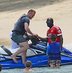 Excl: Wayne Rooney spotted on a Jetski with kids - 29 May 2017