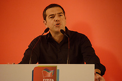 May 27, 2019 - Athens, Greece - Greek Prime Minister, Alexis Tsipras, seen speaking during the Meeting of the SYRIZA Central Committee and Electoral Committee in Athens. (Credit Image: © Giorgos Zachos/SOPA Images via ZUMA Wire)
