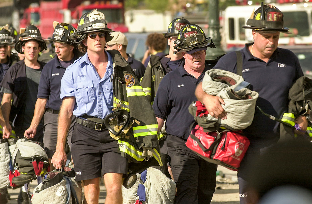 Scenes from 9-11 2001 at  the World Trade Center in New York City. Images from Sept. 11, 2001 to Sept. 11, 2003