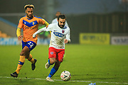 Sam Deering (7) of Dagenham & Redbridge during the The FA Cup match between Mansfield Town and Dagenham and Redbridge at the One Call Stadium, Mansfield, England on 29 November 2020.