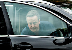 © Licensed to London News Pictures. 11/05/2021. London, UK. Former British Prime Minister DAVID CAMERON is seen outside his London home. Lex Greensill, the founder of finance firm Greensill Capital, is due to give evidence to a treasury select committee later, in relation to Cameron's lobbying of Ministers for the group. Photo credit: Ben Cawthra/LNP
