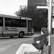 NLD/Blaricum/19930316 - Ingebruikname Midnet Dynamisch Reizigers info Systeem busstation Gooi-Noord