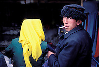 Chine, Xinjiang, Tashkurgan, couple Tadjik // Tadjik couple, Tashkurgan, Sinkiang, China
