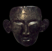 Chinese funerary mask. Liao dynasty (947-1125 A.D) silver