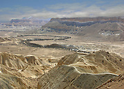 Zin River, Negev, Israel. A usually dry river bed, several times a year it overflows and gushes with flash flood water