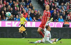 20170916, 1.BL. FCB vs Mainz 05, 1.Bundesliga, Allianz Arena Muenchen, Fussball, Sport, im Bild:...Das 2:0  durch Arjen Robben (FCB), Rene Adler (Mainz 05) geschlagen..*Copyright by:  Philippe Ruiz..Postbank Muenchen.IBAN: DE91 7001 0080 0622 5428 08..Oberbrunner Strasse 2.81475 MŸnchen, .Tel: 089 745 82 22, .Mobil: 0177 29 39 408..( MAIL:  philippe_ruiz@gmx.de ) ..Homepage: www.sportpressefoto-ruiz.de. (Credit Image: © Philippe Ruiz/Xinhua via ZUMA Wire)
