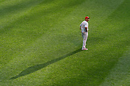 Ben Revere #2 of the Philadelphia Phillies looks on while playing center field during a game against the Minnesota Twins on June 11, 2013 at Target Field in Minneapolis, Minnesota.  The Twins defeated the Phillies 3 to 2.  Photo: Ben Krause
