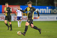 Marine midfieler Kenny Strickland (14) passes the ball during the The FA Cup match between Marine and Tottenham Hotspur at Marine Travel Arena, Great Crosby, United Kingdom on 10 January 2021.