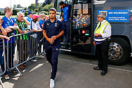 Wimbledon defender Tennai Watson (2), on loan from Reading, arrives during the EFL Sky Bet League 1 match between Burton Albion and AFC Wimbledon at the Pirelli Stadium, Burton upon Trent, England on 1 September 2018.