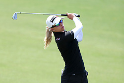 March 3, 2019 - Singapore - Jodi Ewart Shadoff of England plays a shot on the 5th hole during the final round of the Women's World Championship at the Tanjong Course, Sentosa Golf Club. (Credit Image: © Paul Miller/ZUMA Wire)