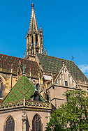 Church in the village of Thann in Alsace, France.