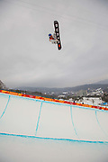 Ben Ferguson, USA, during the Pyeongchang Winter Olympic mens snowboard halfpipe finals on 14th February 2018 at Phoenix Snow Park in South Korea