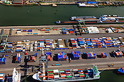 Nederland, Zuid-Holland, Rotterdam, 15-07-2012; Waalhaven met containerterminals en containeroverslag. Detail....QQQ.luchtfoto (toeslag), aerial photo (additional fee required).foto/photo Siebe Swart