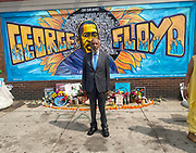 6/24/21  James Meredith poses outside Cup Foods in front of the George Floyd memorial mural, Meredith says he was the George Floyd of his time. The site where Floyd was brutally killed by ex police officer Eric Chauvin who will be sentenced for the murder Friday June 25th. Civil rights icon James Meredith visits George Floyd Memorial Square the day before ex police officer Eric Chauvin is sentenced for the murder of George Floyd.  Meredith is in Minnesota for More Than A Moment, a series of roundtable discussions with students, educators, lawyers, and community leaders and faith leaders to discuss ways to end racism and how to build strong community leaders. Meredith emphasized the importance of speaking the truth and working together to make change for the better in our communities. Photo © Suzi Altman 6/24/21 James Meredith poses outside Cup Foods in front of the George Floyd memorial mural, Meredith says he was the George Floyd of his time. The site where Floyd was brutally killed by ex police officer Eric Chauvin who will be sentenced for the murder Friday June 25th. Civil rights icon James Meredith visits George Floyd Memorial Square the day before ex police officer Derek Chauvin is sentenced for the murder of George Floyd. Meredith is in Minnesota for More Than A Moment, a series of roundtable discussions with students, educators, lawyers, and community leaders and faith leaders to discuss ways to end racism and how to build strong community leaders. Meredith emphasized the importance of speaking the truth and working together to make change for the better in our communities. Photo © Suzi Altman #jamesmeredith #georgefloyd #minneapolis #minnesota #justice #peace #mural #memorial #education #suzialtman #shotoniphone #derekchauvin #murder #blacklivesmatter photo copyright © @suzialtman  #derekchauvin