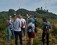 Students on the hike to Howth Head. Image taken with a Nikon 1 V1 camera and 30-110 mm VR lens.