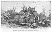 Brookbank, Shotter Mill, Surrey, where English novelist, George Eliot (Mary Ann Evans 1819-1880) lived.  From 'The Century Magazine, New York, 1882.