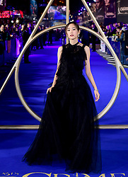 Mirei Kiritani attending the Fantastic Beasts: The Crimes of Grindelwald UK premiere held at Leicester Square, London.