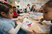 Students participate in the French language immersion program at Mark White Elementary School, January 30, 2017.