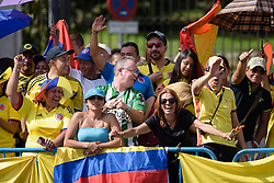 Colombian fans out in force at Madrid Challenge by La Vuelta an 87km road race in Madrid, Spain on 11th September 2016.