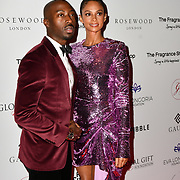 Alesha Dixon and Azuka Ononye Arrivers at The Global Gift Gala red carpet - Eva Longoria hosts annual fundraiser in aid of Rays Of Sunshine, Eva Longoria Foundation and Global Gift Foundation on 2 November 2018 at The Rosewood Hotel, London, UK. Credit: Picture Capital