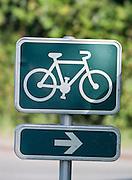 Sign post at Le Martray, Île de Ré, France