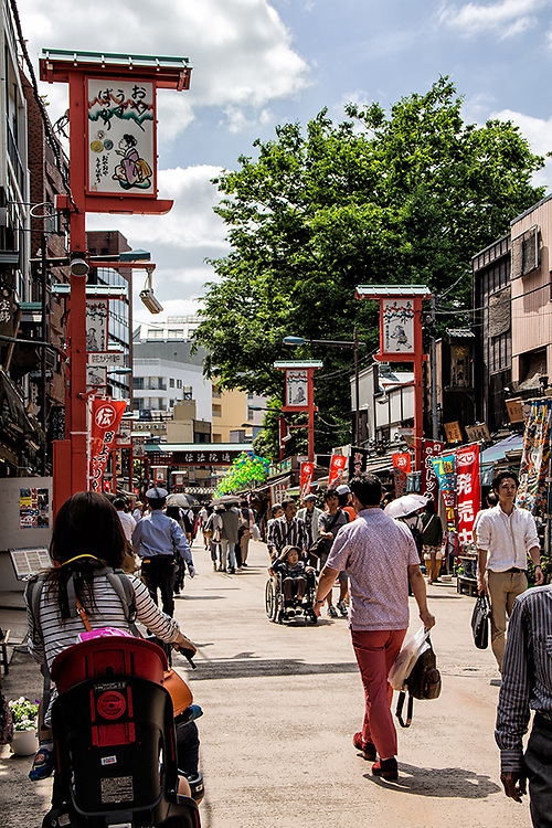 Side Street in Asukusa, near Senso-ji<br /> Tokyo, Japan<br /> May 2015