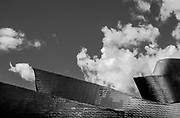 Abstract view of Guggenheim museum in Bilbao in Pais Vasco in Spain, April 1998