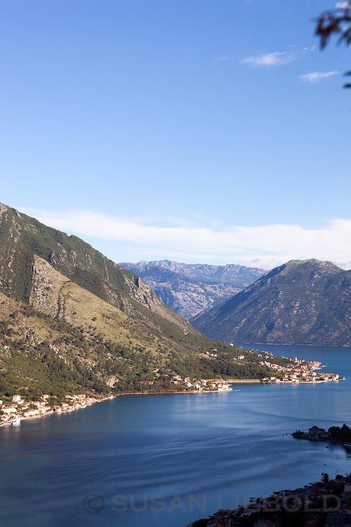 The Bay of Kotor in Montenegro.