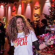 NLD/Hilversum/20141209 - Sky Radio Christmas Tree for Charity 2014, Fajah Lourens voor Right To Play UK